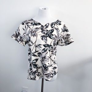 NWT J. Crew boxy floral linen blouse top